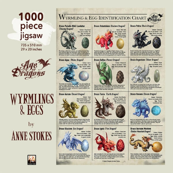 Cover image: Adult Jigsaw Anne Stokes: Wyrmlings & Egg