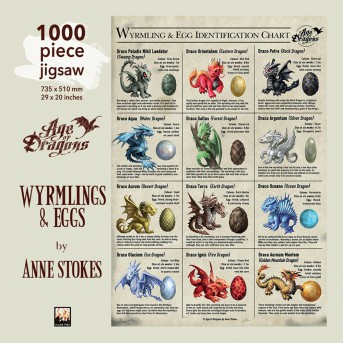 Adult Jigsaw Anne Stokes: Wyrmlings & Eggs