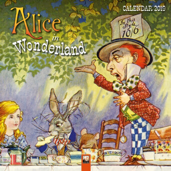 Alice in Wonderland Wall Calendar 2019 (Art Calendar)