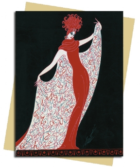 Alphabet Cloak (Erté) Greeting Card