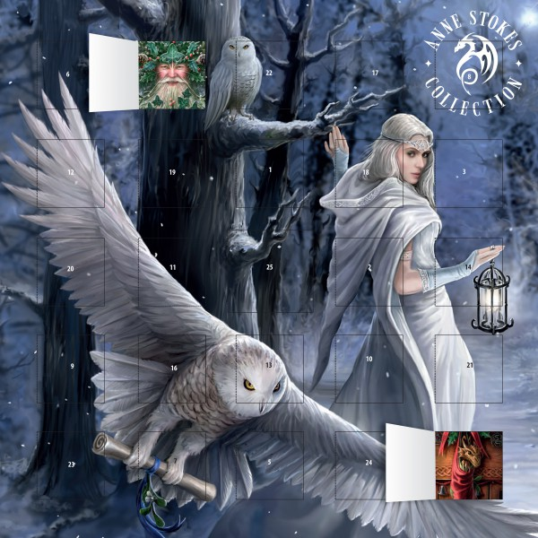 Cover image: Anne Stokes - Midnight Messenger advent calendar (with stickers)
