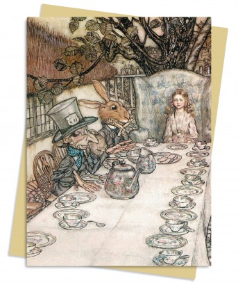 Arthur Rackham: Alice in Wonderland Tea Party Greeting Card
