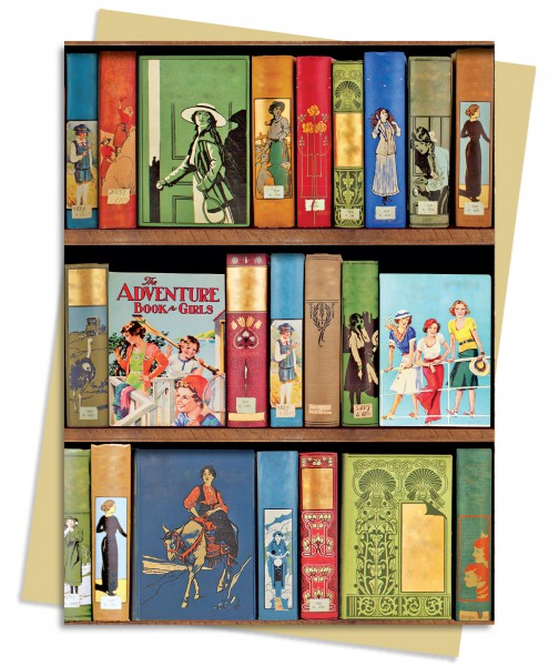 Cover image: Bodeian Libraries: Girls Adventure Book Greeting Card