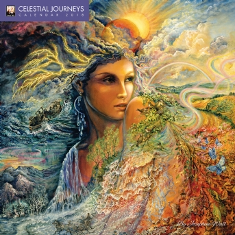 Celestial Journeys by Josephine Wall Wall Calendar 2018 (Art Calendar)