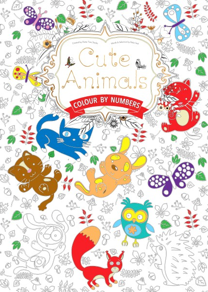 Cover image: Cute Animals (Colouring Book, by Numbers)