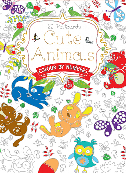 Cover image: Cute Animals Postcard Book