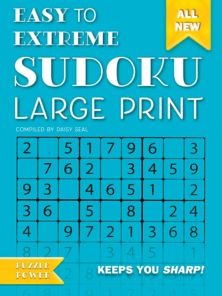 Cover image: Easy to Extreme Sudoku Large Print (Blue)