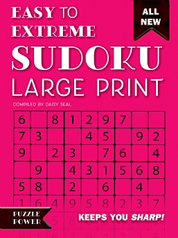 Easy to Extreme Sudoku Large Print (Pink)