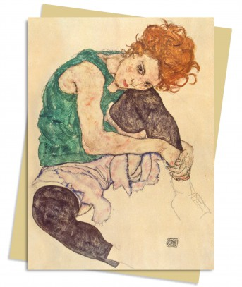Egon Schiele: Seated Woman Greeting Card