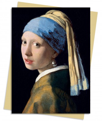 Johannes Vermeer: Girl With a Pearl Earring Greeting Card