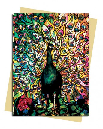 Louis Comfort Tiffany: Displaying Peacock Greeting Card