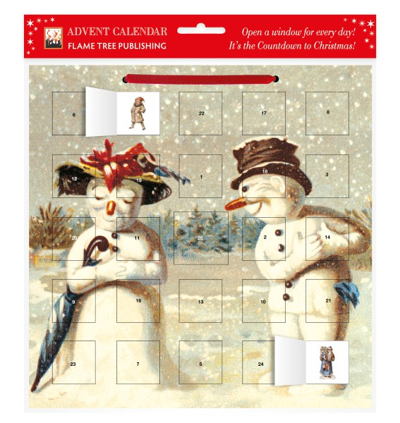Cover image: Mr & Mrs Snowman advent calendar (with stickers)