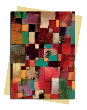 Paul Klee: Redgreen and Violet-Yellow Rythmns Greeting Card