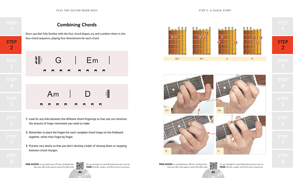 Chord Finder Play Guitar Made Easy Flame Tree Publishing