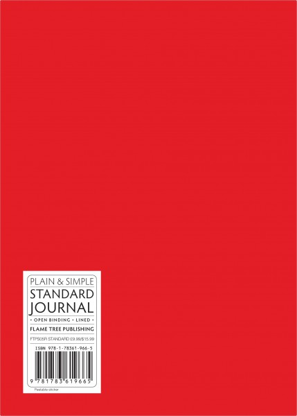 Cover image: Red standard plain & simple journal