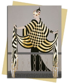 The Balcony (Erté) Greeting Card
