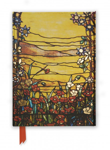 Cover image: Tiffany: Red Flowers and a Stream (Foiled Journal)