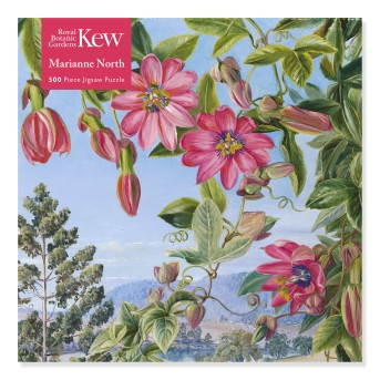 Adult Jigsaw Puzzle Kew: Marianne North: View in the Brisbane Botanic Garden (500 pieces)