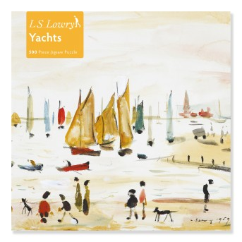 Adult Jigsaw Puzzle L.S. Lowry: Yachts (500 pieces)