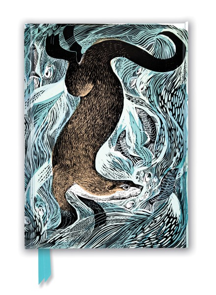 Angela Harding: Fishing Otter (Foiled Journal)