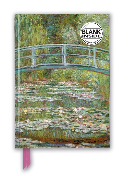 Claude Monet: Bridge over a Pond for Water Lilies (Foiled Blank Journal)