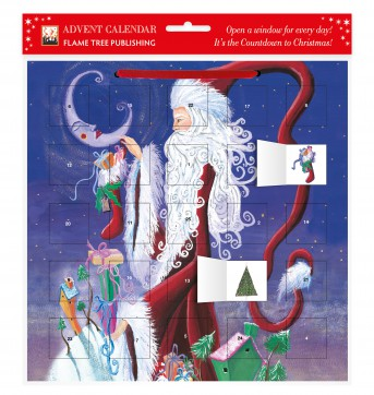 Santa and the Moon advent calendar (with stickers)