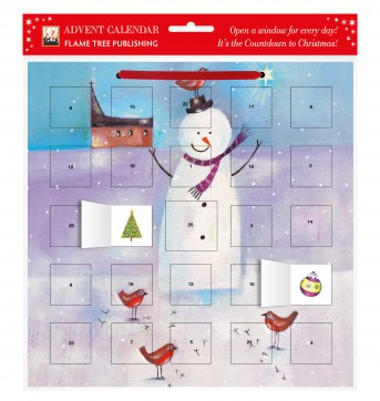 Snowman and Robin advent calendar (with stickers)